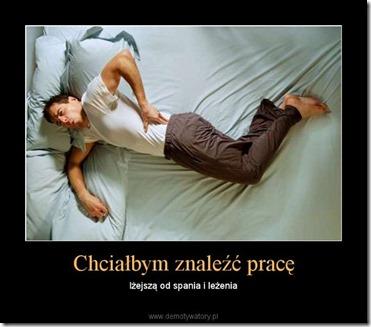 chcialbym znalezc pracę lżejszą od spania i leżenia